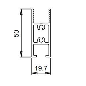 Perfil aluminio horizontal